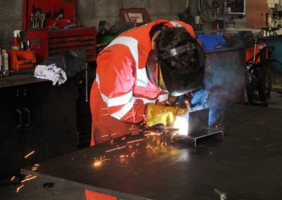 George trying out his welding skills