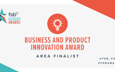 We are finalists in the FSB Business & Product Innovation Awards 2019